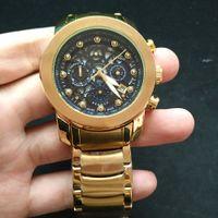 Горячие Продажи Новый стиль Высокое качество Мужские Часы Небольшой Набор Работы Все Функциональные Часы Хронографа Высокое Качество Водонепроницаемый Кварцевый Движение Часы