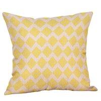 Copertura del cuscino della biancheria Giallo Giallo Grey Grey Cushion Cover Nordico Stile geometrico Casa decorativa per la casa 45x45cm CCA2371