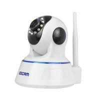 ESCAM QF002 HD 720P Беспроводная IP-камера Day Night Vision P2P Wi-Fi Внутренний инфракрасный наблюдение за охраной CCTV Мини-купольная камера