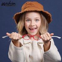 Anti Blue Light Kids Lunettes pour Garçon Fille Enfants Cadre optique Transparent Sun Sun Glasse anti-éblouissement Prescription UV400