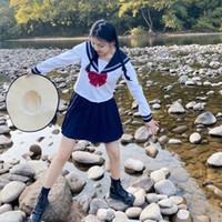Japanische Schule Uniform Rock Sailor Outfit Kostüme JK Uniform Anzug Mädchen Faltenrock Anime Cosplay Schulmädchen Uniform Tops
