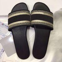 2021 novos paris mulheres sandálias chinelos bordados sandália floral brocado flip flops verão listrado praia slides senhoras chinelos mocassins caixa