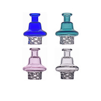Wholesale Carb Cap Glass holder and cyclone spin carb cap for 25mm flat top quartz banger dab Terp Pearls bong
