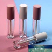 20 adet 4 ml Temizle Yuvarlak Plastik Tüp Buzlu Beyaz Kap ve Parlak Pembe Kap Dudak Parlatıcısı Tüp