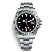 ブラックウォッチメンズ40 mmステンレス鋼自動独立して日付24時間24時間セット個別多機能男腕時計Orogio da Uomo di Lusso