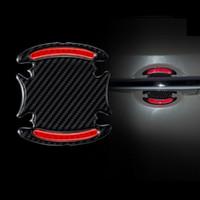 Auto Autoadesivo Riflettente Sicurezza Avvertimento Riflettente Riflettore sicuro Autoadesivo Auto Decorazione styling 4pcs per set