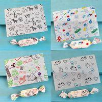 100 pçs / lote Uma variedade de papel de cera de padrões, papel de embrulho, papel de embalagem de sabão de gordura à prova de gordura