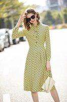 XL 1030 플러스 사이즈 드레스 2021 여름 라인 긴 소매 드레스 댄스 파티 패션 플로라 인쇄 크루 넥 브랜드 똑같은 스타일 드레스 JQ