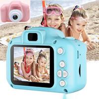 Çocuklar Kamera Çocuk Mini Dijital Kamera Sevimli Karikatür Kamera 13MP SLR Kamera Oyuncaklar Doğum Günü Hediyesi Için 2 inç Ekran Cam Fotoğraflar