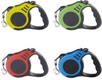 Köpek Tasmalar Otomatik Geri Çekilebilir Yüksek Kaliteli Köpek Tasmaları Lider Yavru Yürüyüş Kurşun Tasma Köpek Pet Malzemeleri 6 Renk Toptan LLS539