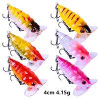 6 Farbe gemischt 4 cm 4.15g cicada Angelhaken Fishhooks 10 # Haken Hard Köder Lustern B8_205