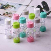 Neue Kontaktlinsengehäuse Myopie Gläser und kosmetische Kontaktlinse Begleiter Box Plastic Care Box Großhandel DWF3223