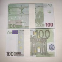 Propósito realista Pretender Props Euro 100 Play Collection Toy Children Gift Ticket Magic Props Paper Faux Billet PROP TOY FALSEIT LE10-051
