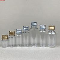 100 x 5 ml 8 ml 10 ml 20 ml de 30 ml de plástico tapa de aluminio claro sellado a prueba de fugas pequeño medicina vacía cosmético muestra mascota botella de mascota producto