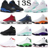 Jumpman 13s 13 erkekler basketbol ayakkabıları moda açık eğitmenler Kırmızı Flint siyah kedi Aurora Yeşil erkek kadın spor ayakkabı
