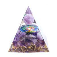 All'ingrosso 5 pezzi Orgone Ciondolo energetico Pietra e resina Pyramid Tree of Life Ametista Gioielli in cristallo
