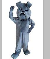 2018 fábrica venda direta cinza bulldog mascote trajes personagem de desenho animado adulto sz