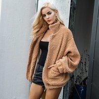 Piel de imitación Lamb Loambswool Oversized Chaqueta Abrigo Invierno Negro Cálido Cálido Chaqueta Mujeres Autumn Damas Outerwear Outerwear Mujer abrigo