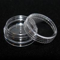Plástico 3ml jarro cosmético vazio caso de sombra facial creme garrafas glitter recipiente de olho sombra vazio unhas potenciômetros de armazenamento ggd1740-3