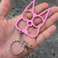 Keychain, personalisiertes Werkzeug Klassische Selbstverteidigungskatze Schlüsselformkette, Katzenkopf Zwei-Finger-Tiger-Metallgeschenk, 3 Farbe