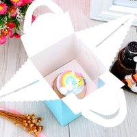Single Cupcake Boxes With Clear Window Handle Portable Macar...