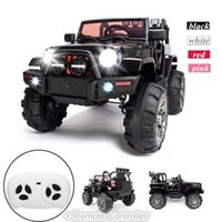 US STOCK 12V Kids Ride on Car SUV MP3 with Remote Control LED Lights 3 Speed 4 Color