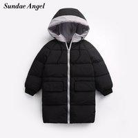 Sundae Angel Girls Down Coat 90% Bianco Duck Down Bambini Capispalla con cappuccio Cappotti per ragazzi lunghi invernali Cappotti per bambini per bambini per 1-8 y LJ201017