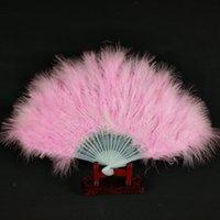 12 дюймов 21 шт. Пластиковые костные перья вентилятор складной портативный перо вентиляторные тормоды аксессуары для свадебных стадии многоцветных выбирает DHE3299