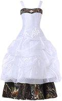 2021 correas de camuflaje vestido de niña vestido de bolsas apliques apliques camuflaje camuflaje niños niñas compaes vestidos primer vestido de comunión qc1594