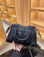 2021 الفاخرة النساء حقائب دراجة نارية أكياس مصمم حقيبة يد جودة عالية الاتجاه أسود كتف حقيبة قطري واحد