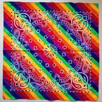 Mode hip hop hip bandana coton imprimé multicolore imprimante paisley foulard express livraison gratuite pour la vente en gros et au détail