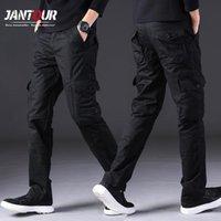 Pantalones para hombres Otoño Invierno Hombres Cargo Safari Estilo Multi Bolsillo 100% algodón Grueso Pantalones rectos Negro Caqui Ejército-Verde 28-38