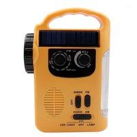 Radio AAAJ-Solar AM / FM 1000MAH manivelle d'urgence à la main avec13 LED et alarme1