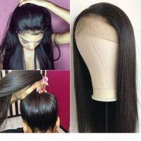 360 Dantel İnsan Saç Peruk Düz İnsan Saç Dantel Ön Peruk 150% Yoğunluk Remy Bakire Brezilyalı Saç