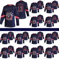 نيويورك رينجرز جيرسي 2020-21 عكس الرجعية 13 الكسيس Lafreniere 24 Kaapo Kakko 10 Artemi Panarin 23 Adam Fox Hockey Jersey