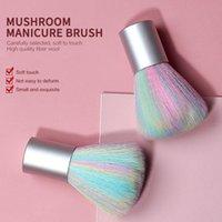 Tırnak Fırçalar 1 adet Taşınabilir Sanat Fırçası Gökkuşağı Renk Toz UV Jel Temizleme Manikür Aksesuarları Araçları Çivi Makyaj