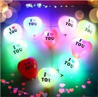 Valentines Jour Loups de ballon lumineux Lovers transparents de boules d'air Bobo Ball de Bobo pour Noël Nouvel An Anniversaire De Mariage Decor Cadeau E121803