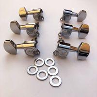 3R 3L Sintonizzatori cromati Pegs Testa macchina per 6 corde Chitarra elettrica, Made in Corea
