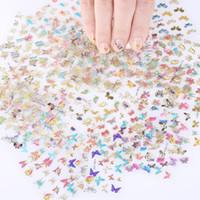 30 foglio nail art decorazioni decorazioni manicure decor 3D laser farfalle olografiche design per unghie adesivi fai da te adesivi decalcomania