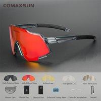 Comaxsun поляризованные спортивные солнцезащитные очки с 5 взаимозаменяемыми объективами мужские женские велосипедные очки бегущие рыболовные солнцезащитные очки 2 sty b1203