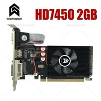 بطاقة الرسومات PCI Express HD7450 2GB DDR3 64BIT LP PLACAL DE CARDER PC ل ATI