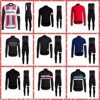 Rapha Team Radfahren Jersey Lätzchen Hosen Sets Frühling und Herbst Atmungsaktiv lange Ärmel Herren Radfahren Kleidung Rennrad Sportswear 120716