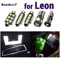 Saf Soğuk Beyaz Hata Ücretsiz LED İç Okuma Dome Harita Işıkları Ampul Kiti için Koltuk Aksesuarları Için Leon 1 M 1 P 5F ST 1999-20201
