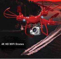 Новый 360 Wi-Fi Drone 4K 1080P 720P HD HD-камеры Дроны самолета Четыре оси Воздушный пульт дистанционного управления Вертолет Ультра-длинная выносливость UAV DRONI RC самолеты