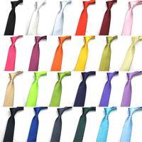 5cm gravata poliéster de poliéster estreita gravata masculina coreana casual silk imitação desempenho puro pequena gravata mulheres 3 pçs / lote