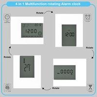 Elektronik Kare LCD Takvim Çalar Saat Dijital Masa İzle Beyaz Ev Termometre ile Beyaz Sayım Timer Pille Kumandalı LJ201204