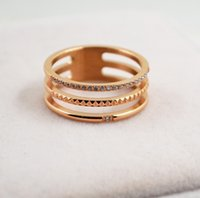 Moda coreana in acciaio inox in acciaio inox, fiore rotondo in acciaio in acciaio in acciaio placcato oro anello giapponese e coreano ragazze 18 carati in oro rosa anello tail ring