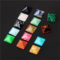 Doğal Taş Süslemeleri Koni Desen Parçaları Çok Renkli Süsler Piramit Küçük Stereoskopik Dekoratif Batı 1 3zea O2