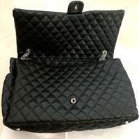 Diseñador- moda gran capacidad lona bolsas 46 cm hombro compras bolso monedero mujer viajar bolso