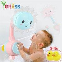 BABY BAÑO JUGUETES Ducha Playa Juego de agua Juegos de niños Bañera Baño Baño en los juguetes para niños para niños Regalo Rubber Duck 201216